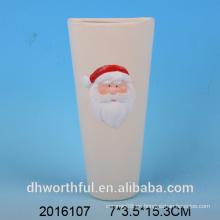 Navidad decoración humidificador de aire de cerámica con la estatuilla de santa