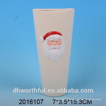 Christmas decor ceramic air humidifier with santa figurine