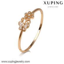 51655 Hot selling sex bangle sexy bangle jewelry butterfly and flower inlay crystal design jewelry