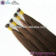 Qingdao Haiyi Hair Products Häutchen ausgerichtet russische Remy Haarverlängerung Nano-Ring-Erweiterung.
