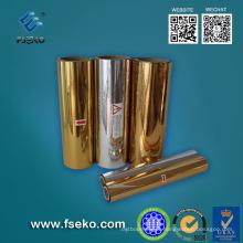 Película de rolo metalizada ouro do animal de estimação para a estratificação quente