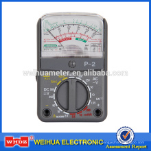 Multímetro analógico Multímetro analógico, Medidor de tensión Medidor portátil Medidor portátil P-2