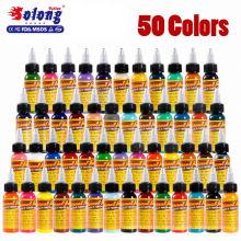 Solong tattoo permanent makeup 50 colors 30ml 1oz tattoo pigment kit