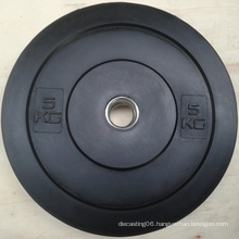Black Pure Rubber Weight Lifting Bumper Plate