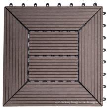 DIY Floor Tiles Exterior&Interior Waterproof Anti-Slip WPC Composite Deck Tiles