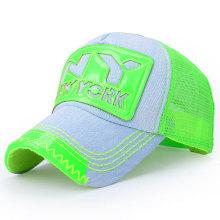 Moda lavada algodão denim malha boné de beisebol (yky3010b-1)