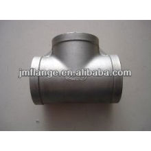 Aço carbono Pipe Fitting Tee Igual zinco cool -dip