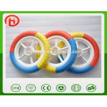 12 '' EAV rueda de espuma sólida, borde de plástico, rueda de coche de los niños. Ruedas de carro de bebé, rueda de bicicleta de niño bebé