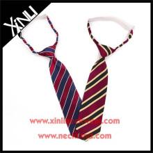 Poliéster tecido de alta qualidade atacado criança elástica gravatas