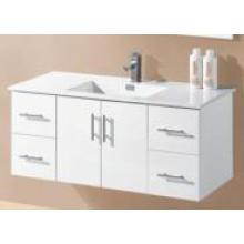 Blanco Brillo MDF pared de tocador montado en el cuarto de baño (UV8027-1200W)