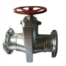 Flanged manual stainless steel pinch valve