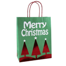 wholesale Cheap Shopping Packaging Handles Craft Paper Bag Christmas Gift Bags