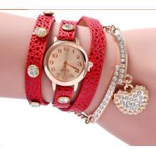 Yxl-399 Envío de la gota Vintage Reloj De Pulsera Relojes Mujer Correa de cuero Venta caliente Pulsera Reloj de pulsera Mujer Cuarzo Tejido Pulsera Reloj