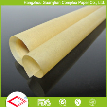 FDA/SGS Certified Unbleached Brown Parchment Paper in Rolls