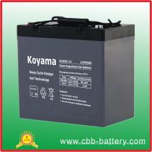 12V 55ah Deep Cycle Gel Battery for Solar