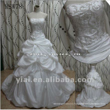 RSW78 Real Gorgeous Delicate Peculiar Unique Beaded Embroidered Taffeta Wedding Dress
