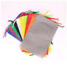 New arrival promotional hot sell size custom printed colorful portable non woven drawstring bag