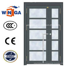 Outside Using High Quality Steel Security Glass Door (W-GD-15)