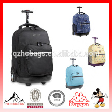2013 дети мешок школы с колесами для новейшие образцы подвижного рюкзак