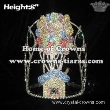 Wholesale Crystal Balloon Pageant Queen Crowns