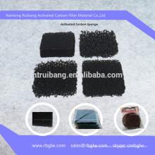 tela de fibra de carbono Activada esponja de filtro de carbón