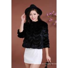 Alta calidad Señora invierno pieles ropa mujer Moda Outwear abrigo de pieles caliente