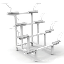 Porte-vélos Étagère de rangement en métal Support de vélo en acier