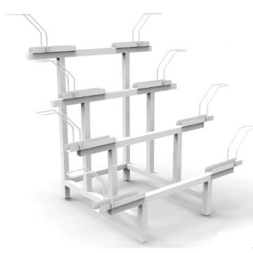 Soporte para bicicletas Estante para almacenamiento de bicicletas Soporte para bicicletas de acero y metal