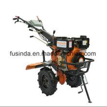 Fg1050, 7HP 4.4kw Diesel Tiller Two Wheel Tiller Mini Tiller Garden Tiller Farm Tiller Rotary Tiller Diesel Power Tiller