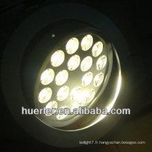18w down boîtier lumineux 110v 220v 100-240v 18 leds