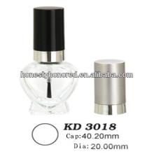 Forma de Cilindro de garrafas de óleo de polonês de prego Cap & frasco de esmalte com tampa