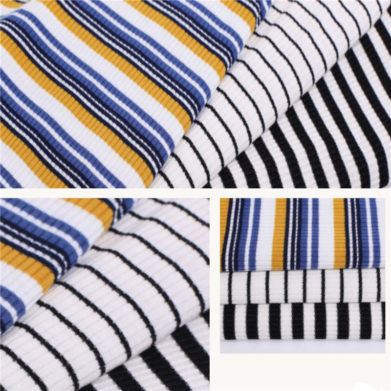 Customized Rib Knitting Coarse Needle Fabric For Ladies.