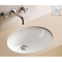 Bathroom Under Counter Oval Round Shape Art Ceramic Porcelain Hand Wash Sink Basin