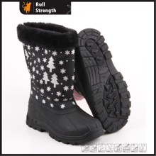 Women Winter Boots with PU Upper and PVC Sole (SN5232)