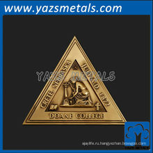 подгонять металла медали изготовленный на заказ высокомарочный колледжа Доуна треугольник медаль