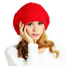 POM POM 100% Wool Crochet Berets Beanie Hats