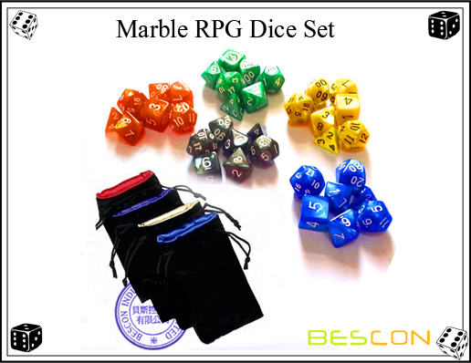 Marble RPG Dice Set
