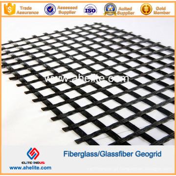 Estrada de Concreto de Asfalto Geogrelha de Fibra de Vidro Usada 50knx50kn