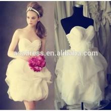Plus size Bridal gowns sexy short wedding dress Beach organza Baby girl wedding dresses patterns2015 (YASA-5088)