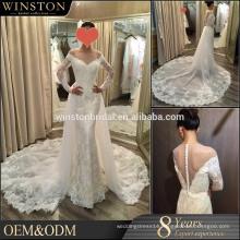 2016 Fashion High Quality V-neckline wedding dress bridal gown