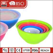 HAIXING Durable plastic round multi size mixing bowls set