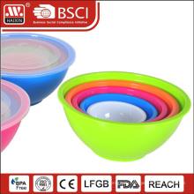 Оптовая продажа пластиковой чаши смешивания с крышками