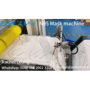 Masque facial automatique à grande vitesse N95 faisant la machine
