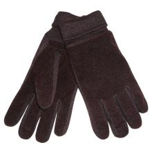 Мужская мода акриловые трикотажные манжеты искусственная кожа теплые перчатки (YKY5009)