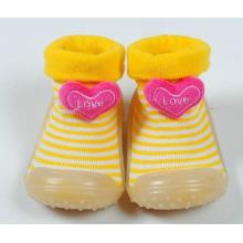 Nouveau bébé bébé antidérapant semelle en caoutchouc chaussette chaussures chaussures
