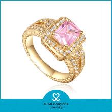 Whosale Diamante Anel De Casamento Decoração Preço