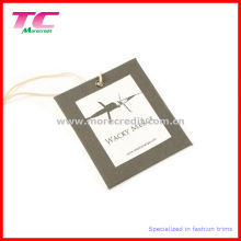 Custom Cotton Canvas Hang Tag with Print Logo (TC-HT102)