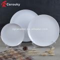 Дешевая белая гладкая керамическая обеденная тарелка