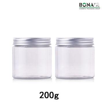 Frasco cosmético do frasco claro plástico do animal de estimação 200g