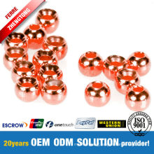 Fly Fishing Material Countersunk Beads Copper